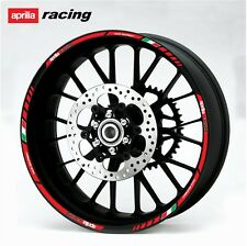 aprilia Racing motorcycle wheel decals 12 rim stickers laminated set RSV 4 Tuono