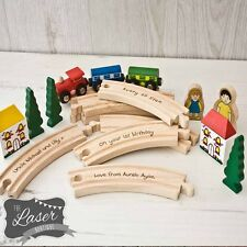 Personalised Engraved Wooden Train Set,  First Birthday, Gift Idea, Christening