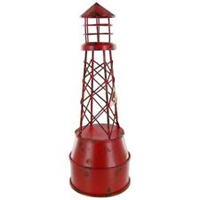 """12"""" Tall Nautical Decor Authentic-Look Large Red Iron Buoy Distressed Finish.New"""