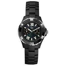 BRAND NEW GUESS COLLECTION GC X69002L2S BLACK CERAMIC SILVER STEEL WOMEN'S WATCH