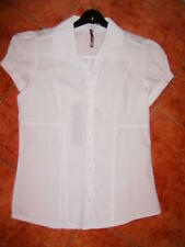 Ladies Shirt Size 10 Blouse Short Sleeve White BNWT
