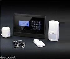 Kit Alarme Maison Sans Fil Auto Appel GSM Tactile détecteur Notice en  Francais