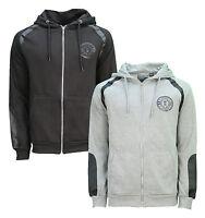 Soul Star Zip Hoodie Men's Fleece Sweatshirt Hooded Top Black Grey