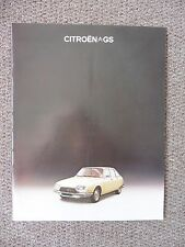 Citroen GS  Brochure, 1976 Price List,. Excellent Condition