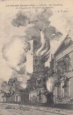 GUERRE 14-18 WW1 PAS-DE-CALAIS ARRAS rue gambetta chapelle en flammes