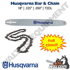 Genuine Husqvarna Bar & Chain 18"
