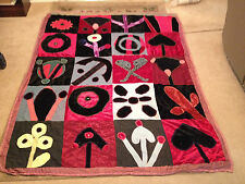 Likely Vintage Surrealist Quilt / Fabric Hanging Wall Sculpture