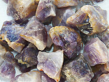 "1 LB AMETHYST  1""+ Bulk Rough Tumbling Rock Stones 2200+ Ct India"