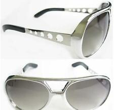 Elvis Style Silver Aviators with Smoke Lens