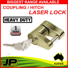 HITCH LASER LOCK LOCK 2 KEYS TRAILER COUPLING CARAVAN 4X4 CAMPER ANTI THEFT PIN