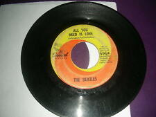 """Pop 45 Beatles  """"All You Need Is Love / Baby You're A Rich Man"""" Capitol G+"""