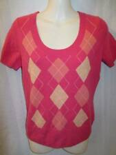 Tweeds 100% Cashmere Peach Pink Short sleeve knit Top sweater S