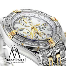 Diamond Breitling B13356 Windrider Evolution Two Tone Watch Mother Of Pearl Dial