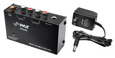 Pyle PP555 Compact Phono Turntable Preamp Converts Phono to Line Level New