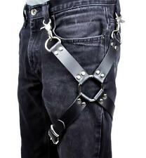 1 O Ring Black Leather Thigh Leg Harness Cosplay Gothic Punk Alternative Grunge