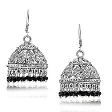 Spargz Embellished Silver Oxidized jhumka Earrings For Women AIER 659