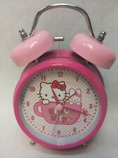 Sanrio Hello Kitty Alarm Clock Tea Cup Bunny Rabbit Hot Pink EUC