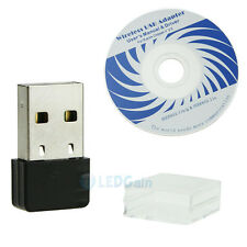 Hot!150Mbps Mini USB WiFi Wireless Adapter 150M Network LAN Card 802.11n/g/b USA