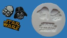STAR WARS 006 SILICONE MOULD FOR CAKE TOPPERS, CHOCOLATE, CLAY ETC
