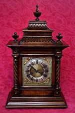 Antique Rare 'Junghans (HAC)' Oak Japanese Temple Case Mantel Clock with Chimes