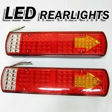 Led Rear Tail Lights Lamps Lorry Truck Trailer Chassis - 24v