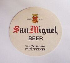 PHILIPPINES Beer Mat Coaster SAN MIGUEL White Round NEW 2008 Pinoy Asia Collect