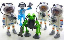 Playmobil 5 figuras de espacio Astronautas exploradores Alien espía robot esqueleto armas