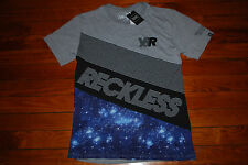 NEW Men's Young and Reckless Starry Galaxy Graphic T-shirt (Medium)