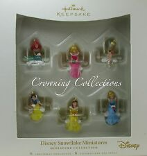 2006 Hallmark Disney Snowflake Miniatures Keepsake Ornament Princess Set Ariel