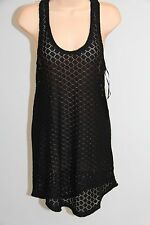 New Roxy Swimsuit Bikini Cover Up Dress Size M Lady Racer Tank Black