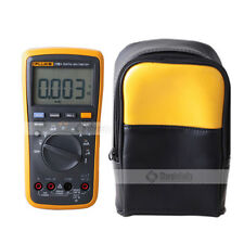 Fluke 17B+ Multimeter Temperature & Frequenc + Soft Carrying Case Bag Carrier