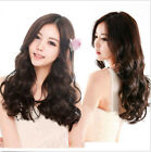 Sexy Cosplay Party Girls Womens Fashion Long Wig Hair Dark Brown Wavy Curly Wigs