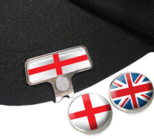 ENGLAND ELITE HAT OR CAP CLIP AND MAGNETIC BALL MARKERS BY ASBRI GOLF.