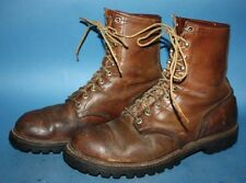 MENS VTG 60s RED WING IRISH SETTER BROWN LEATHER  WORK/BIKER CHUKKA BOOTS sz 9 D