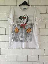 URBAN VINTAGE RETRO OLD USA UNISEX WHITE DISNEY MICKEY MOUSE OVERSIZED T SHIRT