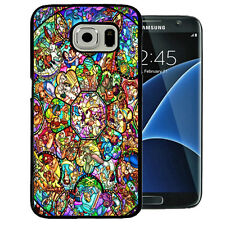DISNEY ALL CHARACTERS STAINED GLASS SAMSUNG GALAXY S7 EDGE TPU + PC CASE