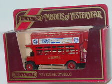 MATCHBOX MODELS OF YESTERYEAR Y-23 1922 AECOMNIBUS GENERAL