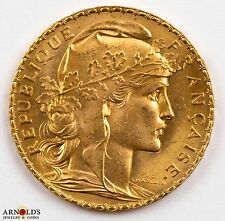 1911 France 20 Francs Gold .1867 agw, Choice Gem BU - Multiple Available