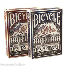 US Presidents Blue & Red 2 Deck Set Bicycle Playing Cards Poker Size USPCC New