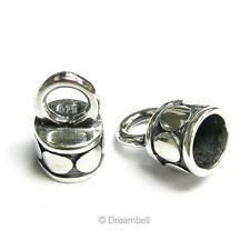 2x Bali Sterling Silver 4mm Leather Cord  End Cap SX164B