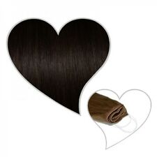 Easy Flip Extensions in schwarzbraun #1b 60 cm 130 Gramm Echthaar Hair Secret