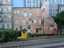 #305 O scale background building flat  BACKSIDE #5   *FREE SHIPPING*