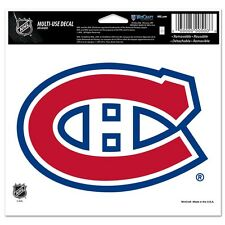 "Montreal Canadiens 5""x6"" Ultra Decal [NEW] NHL Car Auto Static Cling CDG"