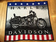 HARLEY DAVIDSON MOTORCYCLE FLEECE THROW BLANKET