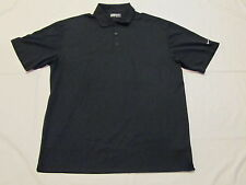 Nike Golf Fit Dry Solid Black Shirt XL Extra Large 100% Polyester