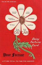 DAISY FORTUNE CARD Six in the Series LIFT PETAL TO FIND ANSWER (petals missing)