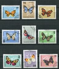 HUNGARY 1966 BUTTERFLIES COMPLETE SET OF 9 STAMPS!