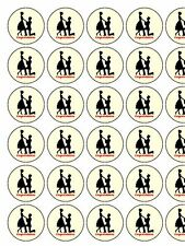 """Engagment Romance Silhouette PRECUT 30 x 1.3"""" wafer paper cupcake / cake toppers"""