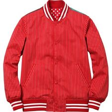SUPREME x Comme des Garcons Reversible Varsity Baseball Jacket Red XL S/S 14