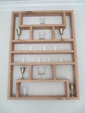 Shot Glass / Collectibles Wall Display Shelf - #6 X-Large